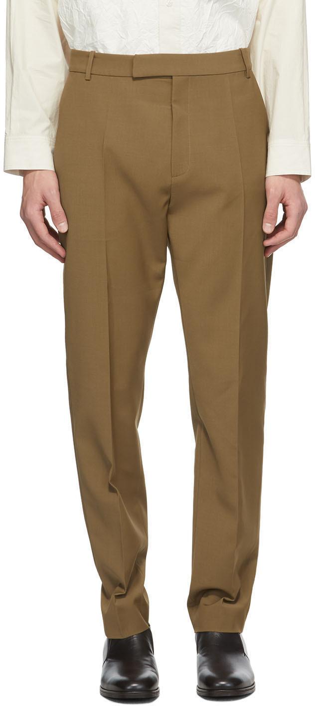 Brown Wool Jasper Trousers
