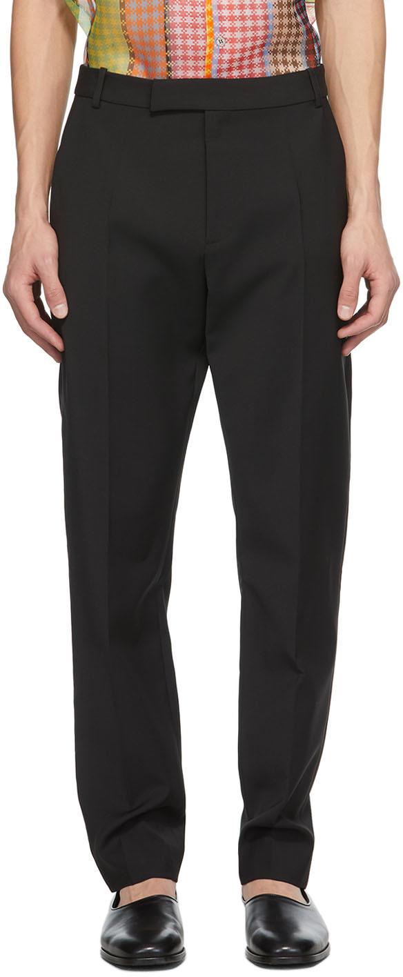 Black Wool Jasper Trousers