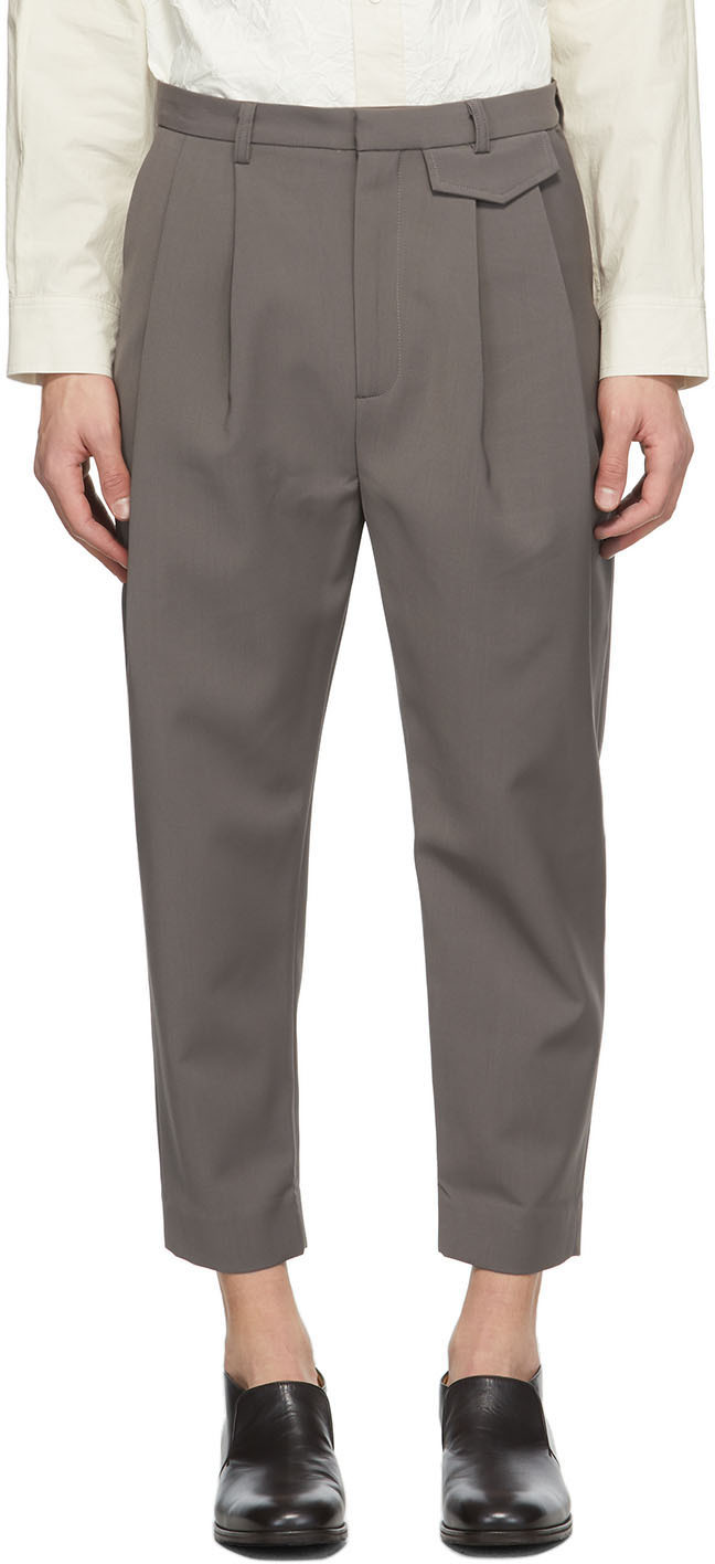 SSENSE Exclusive Taupe Wyatt Trousers
