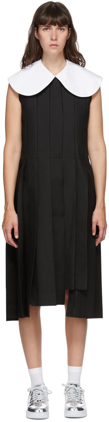 Black Large Collar Dress