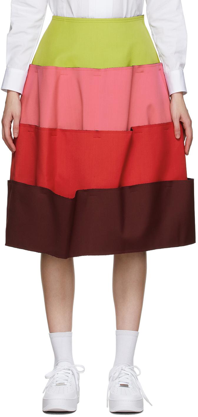 Green & Pink 4 Part Skirt