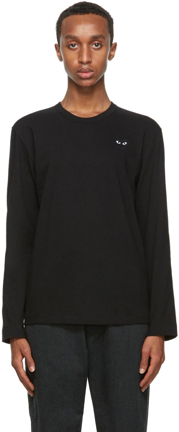 Black 'Black Heart' Long Sleeve T-Shirt