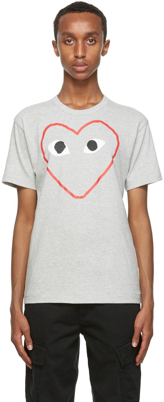 Grey Big Heart T-Shirt