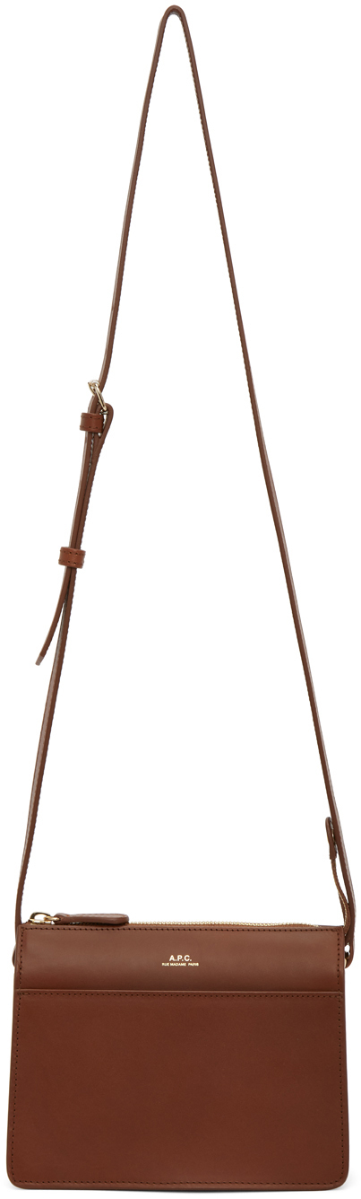 Brown Mini Ella Bag by A.P.C. on Sale