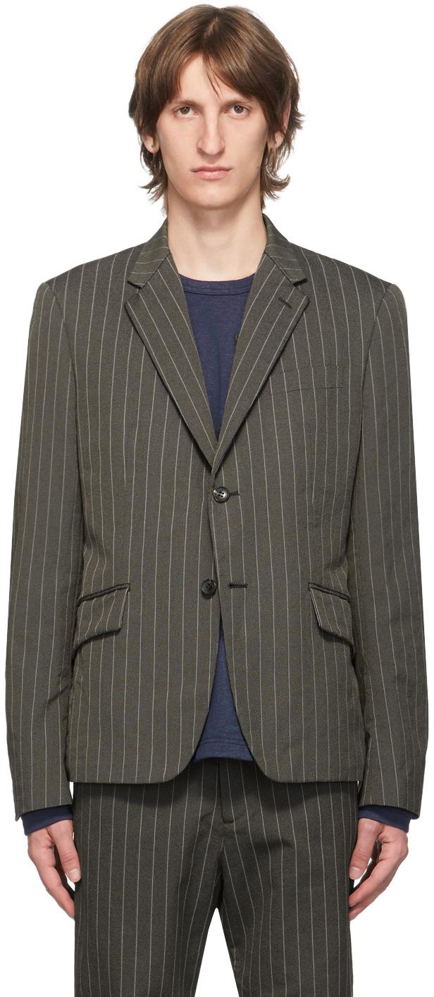 Brown Stripe Blazer