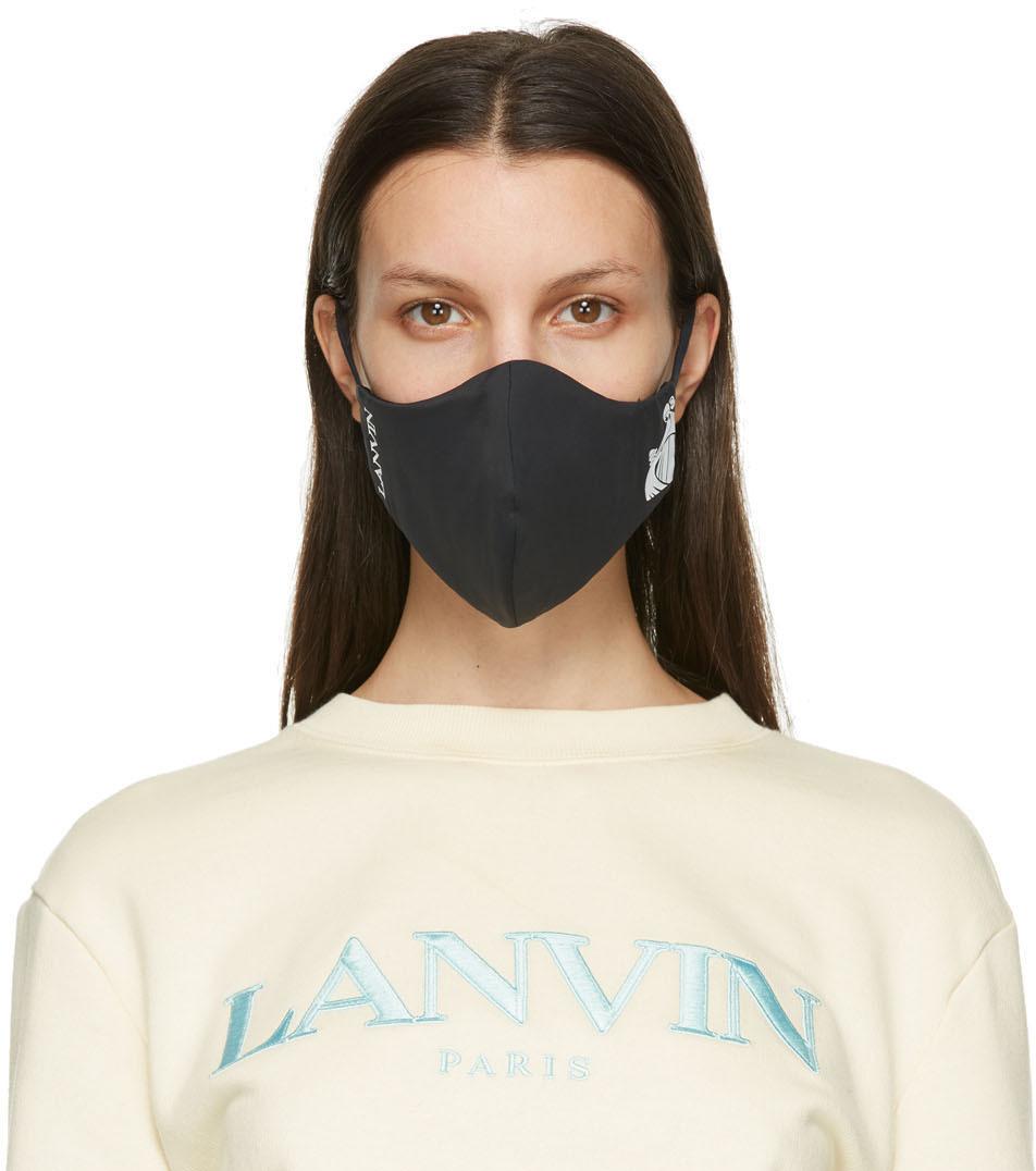 Lanvin 两件装黑色 & 海军蓝徽标口罩