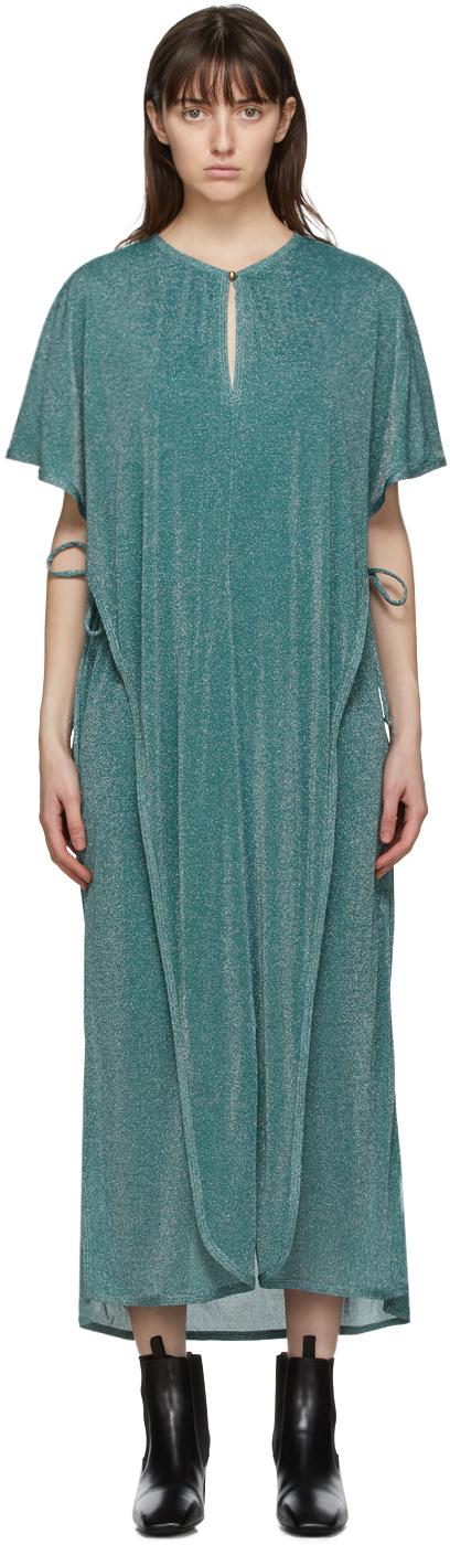 Blue Metallic Long Dress