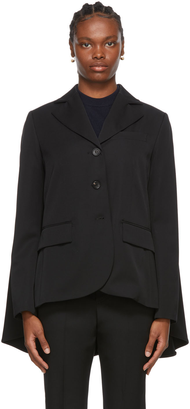 Black Wool Classic Blazer