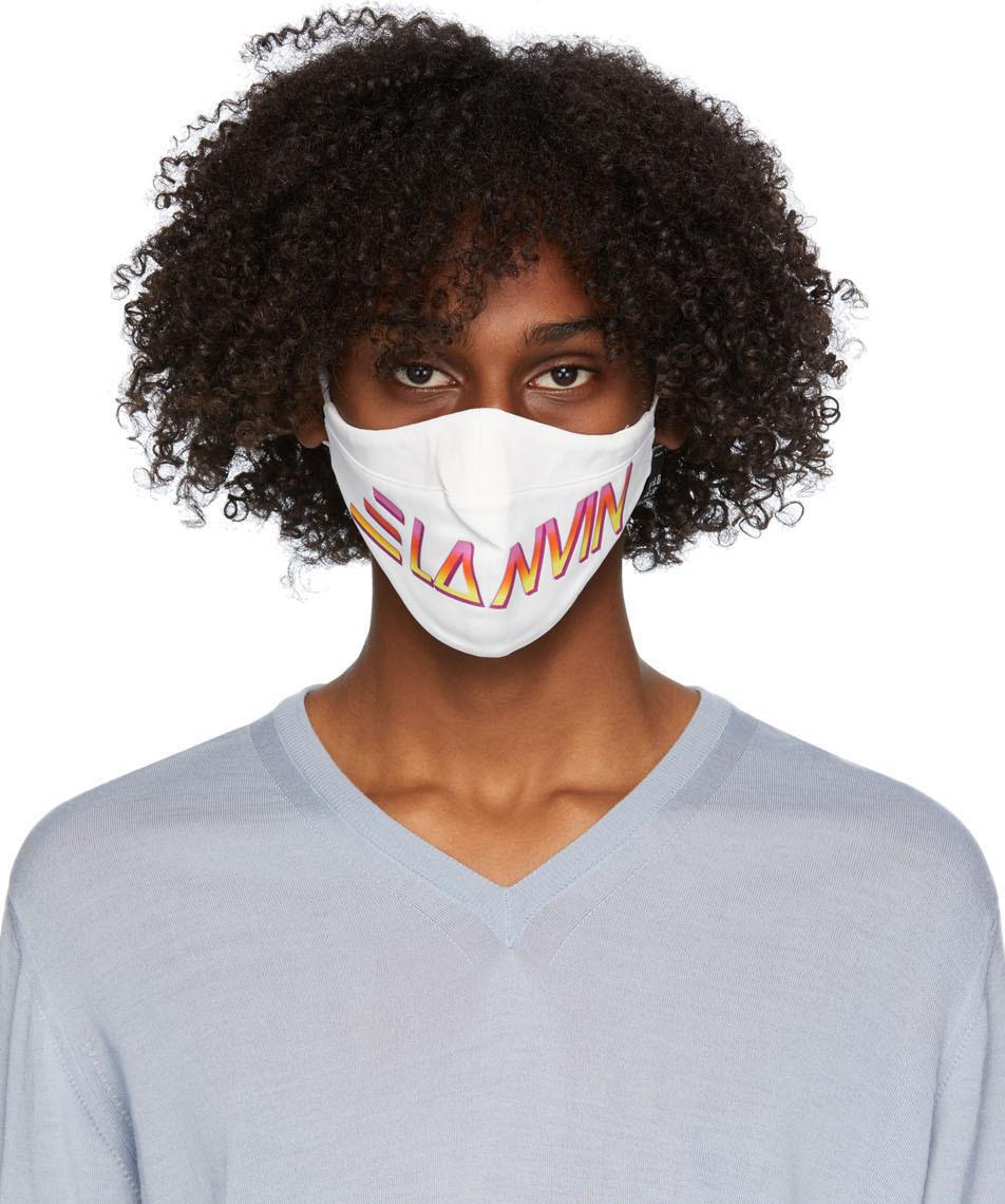 Lanvin 两件装黑色 & 白色徽标口罩