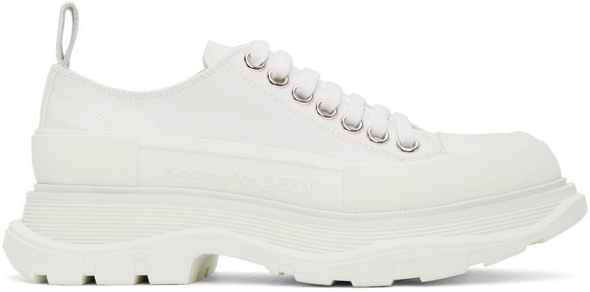 Alexander McQueen White Tread Slick Platform Low Sneakers