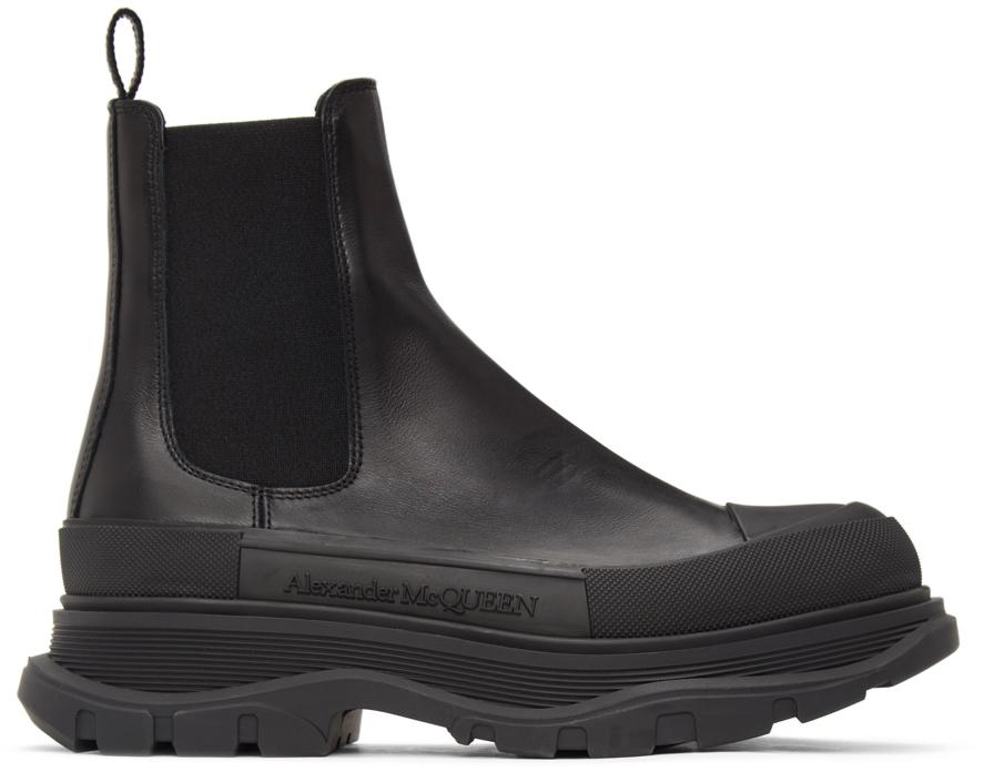 Black Tread Slick Chelsea Boots