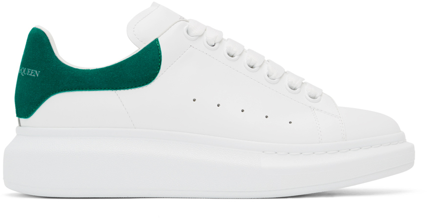 White \u0026 Green Oversized Sneakers by