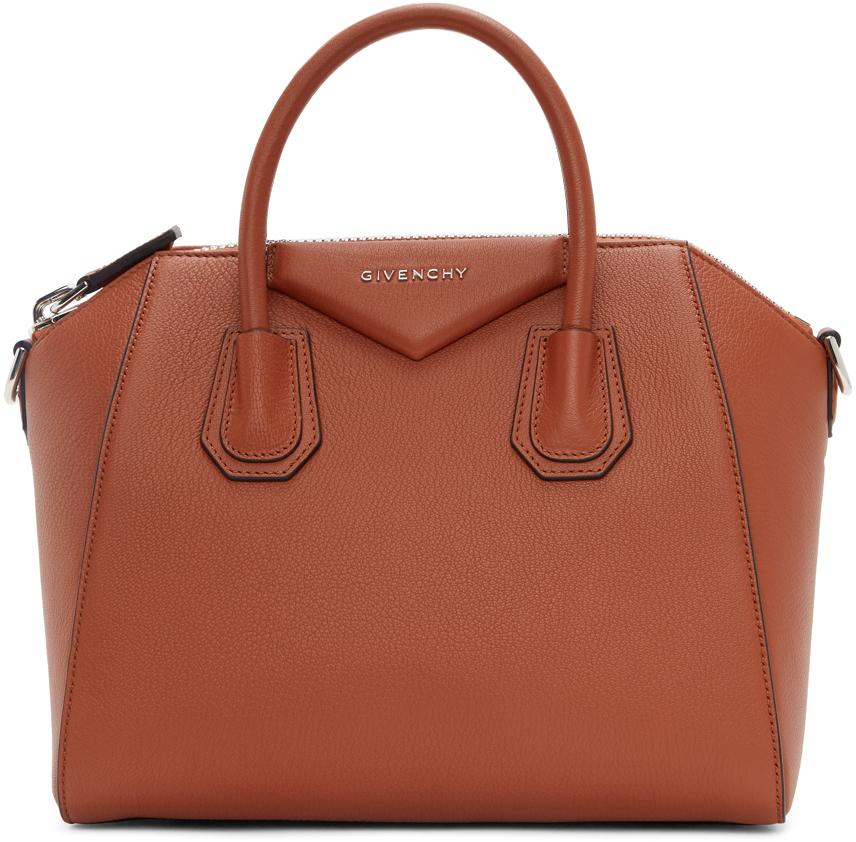 Givenchy: オレンジ スモール Antigona バッグ | SSENSE 日本