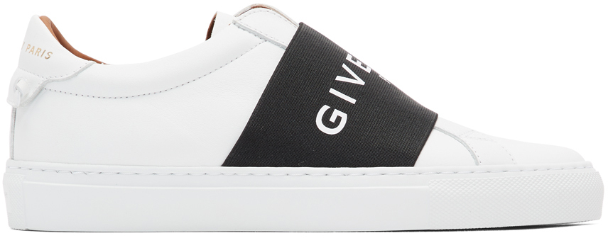 Givenchy White & Black Elastic Urban Knots Sneakers
