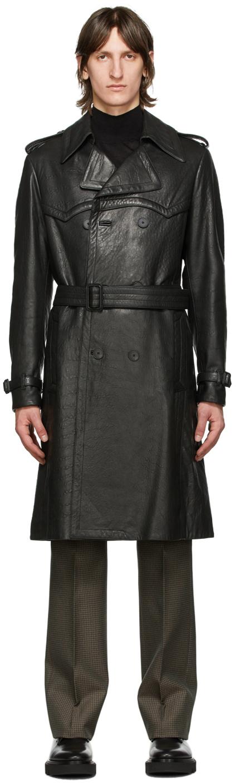 Givenchy 黑色束带小羊皮风衣