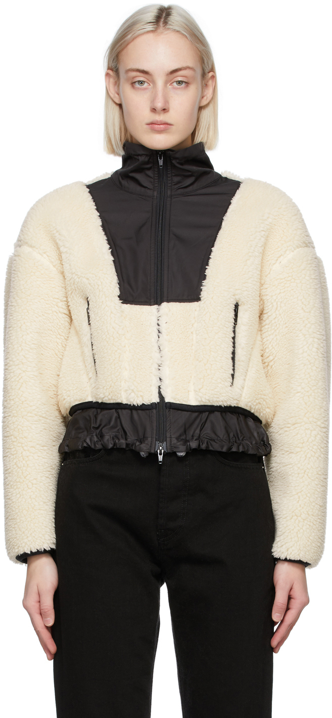 31 Phillip Lim Off White Cropped Sherpa Bonded Jacket 202283F063006
