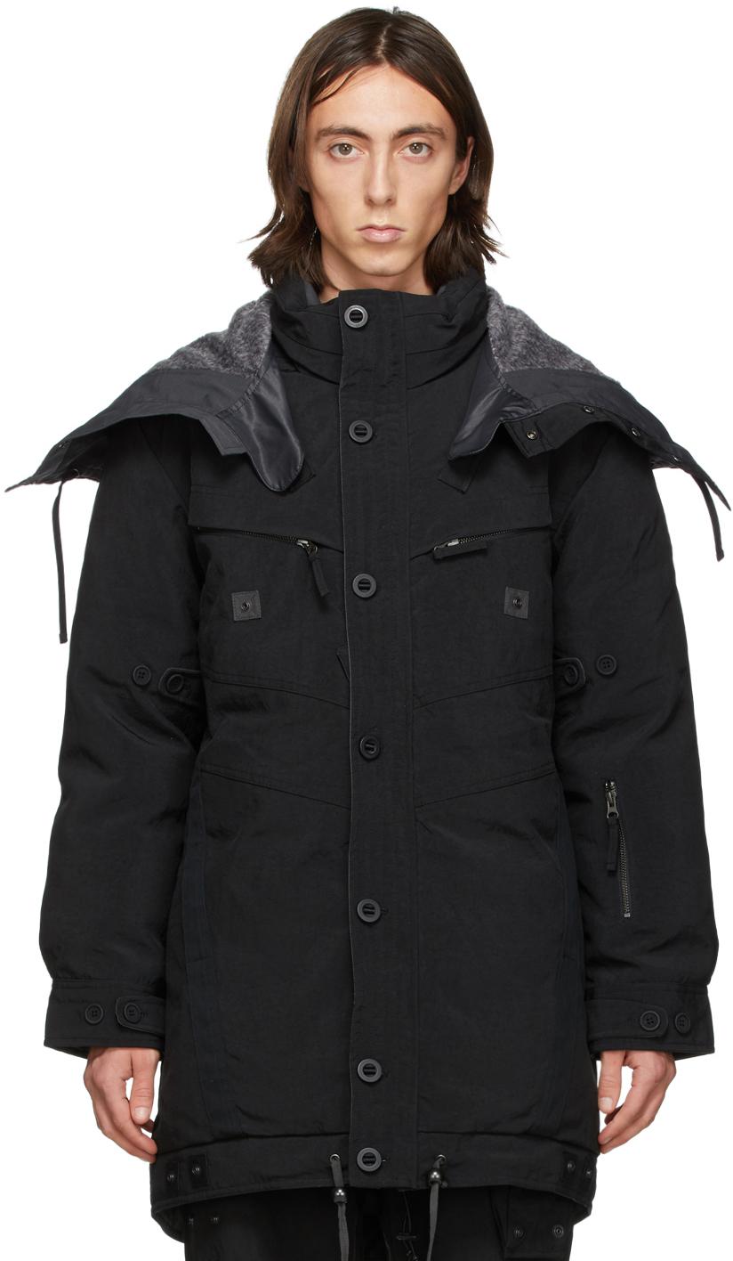Black Down Parka Jacket
