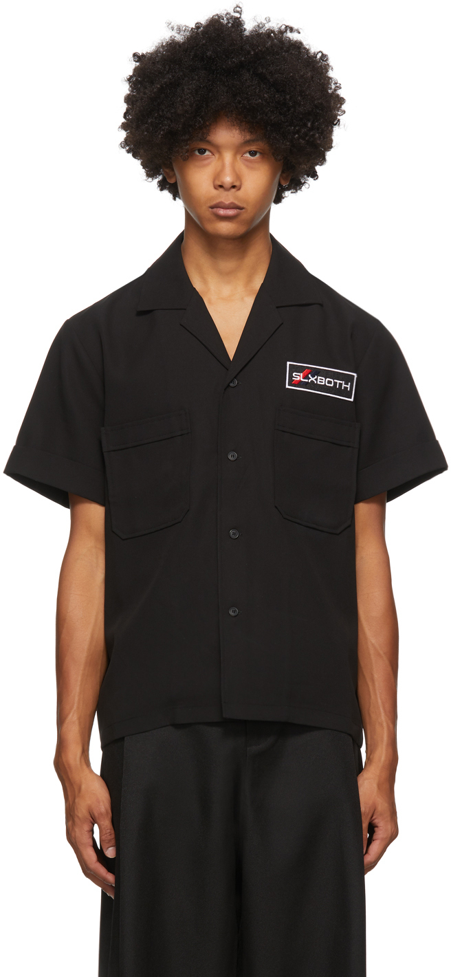 Black Second Layer Edition Pocket Button Down Shirt