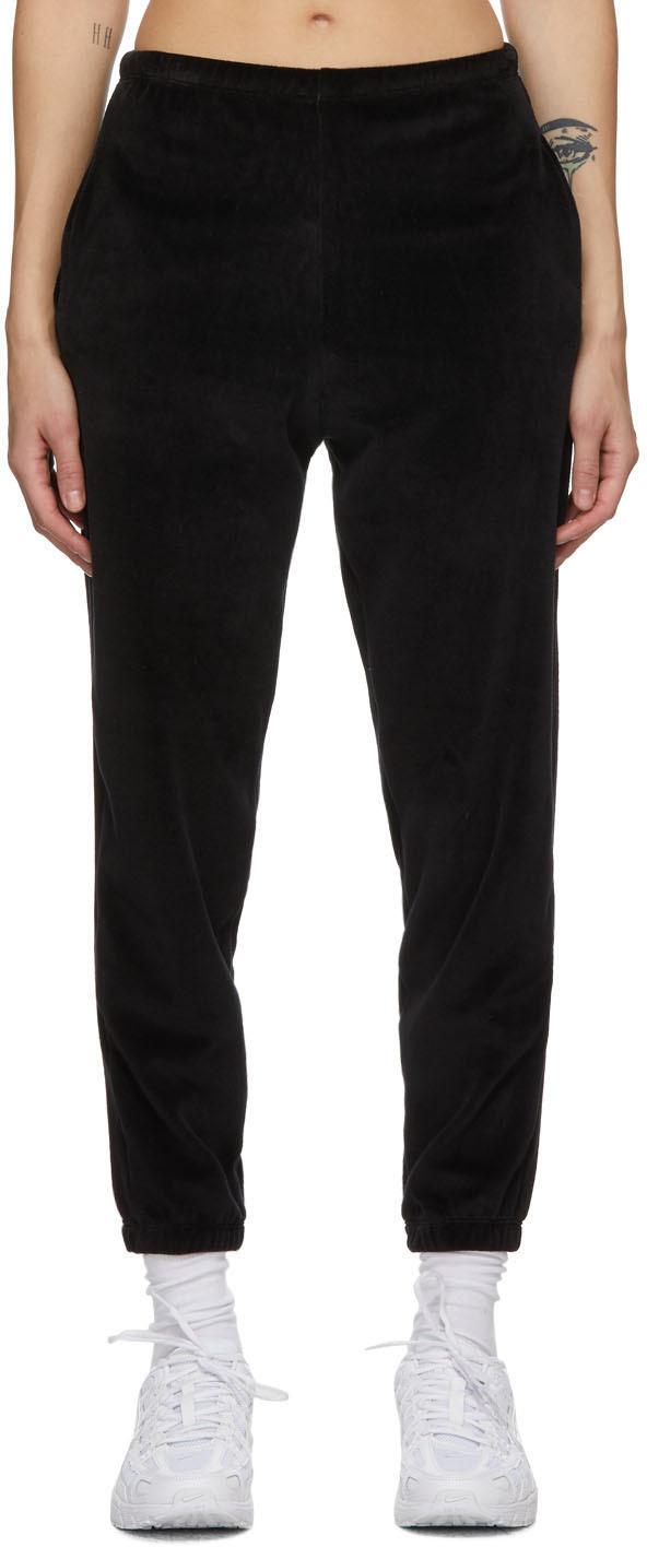 Black Velour Beachwood Lounge Pants