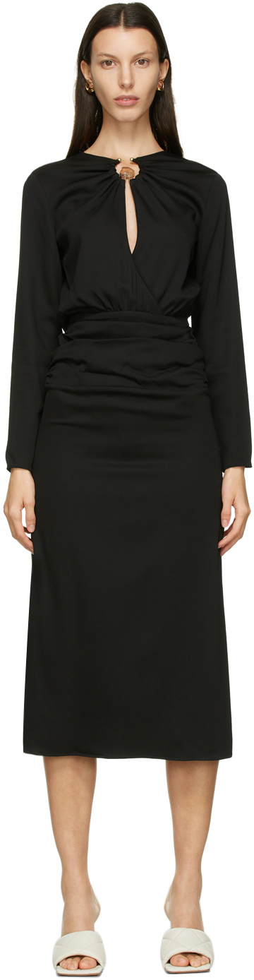 Black Cummerbund Orbit Dress