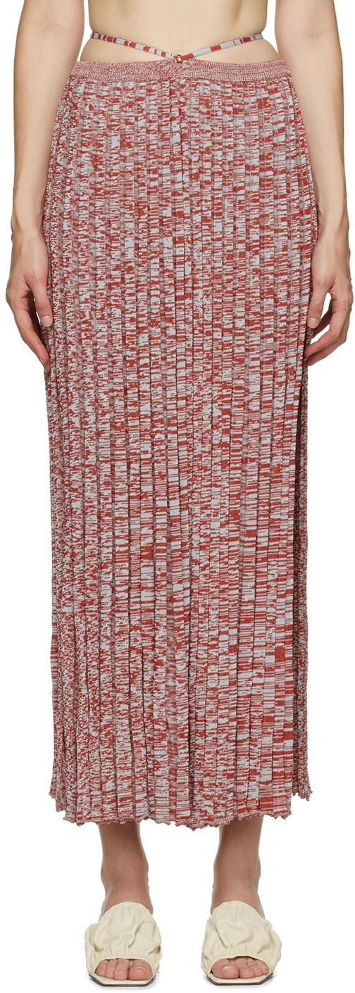 Christopher Esber 红色 & 蓝色 Tie 半身裙