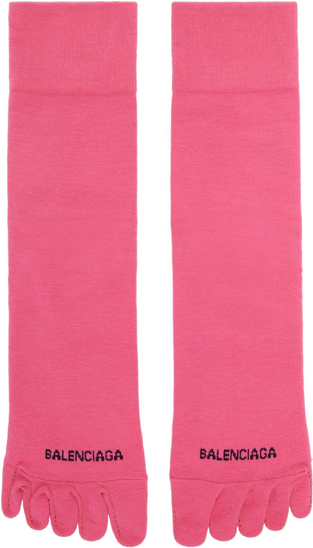 Pink Logo Toe Socks