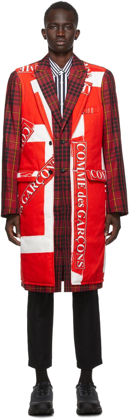 Red Tartan Katsuragi Coat