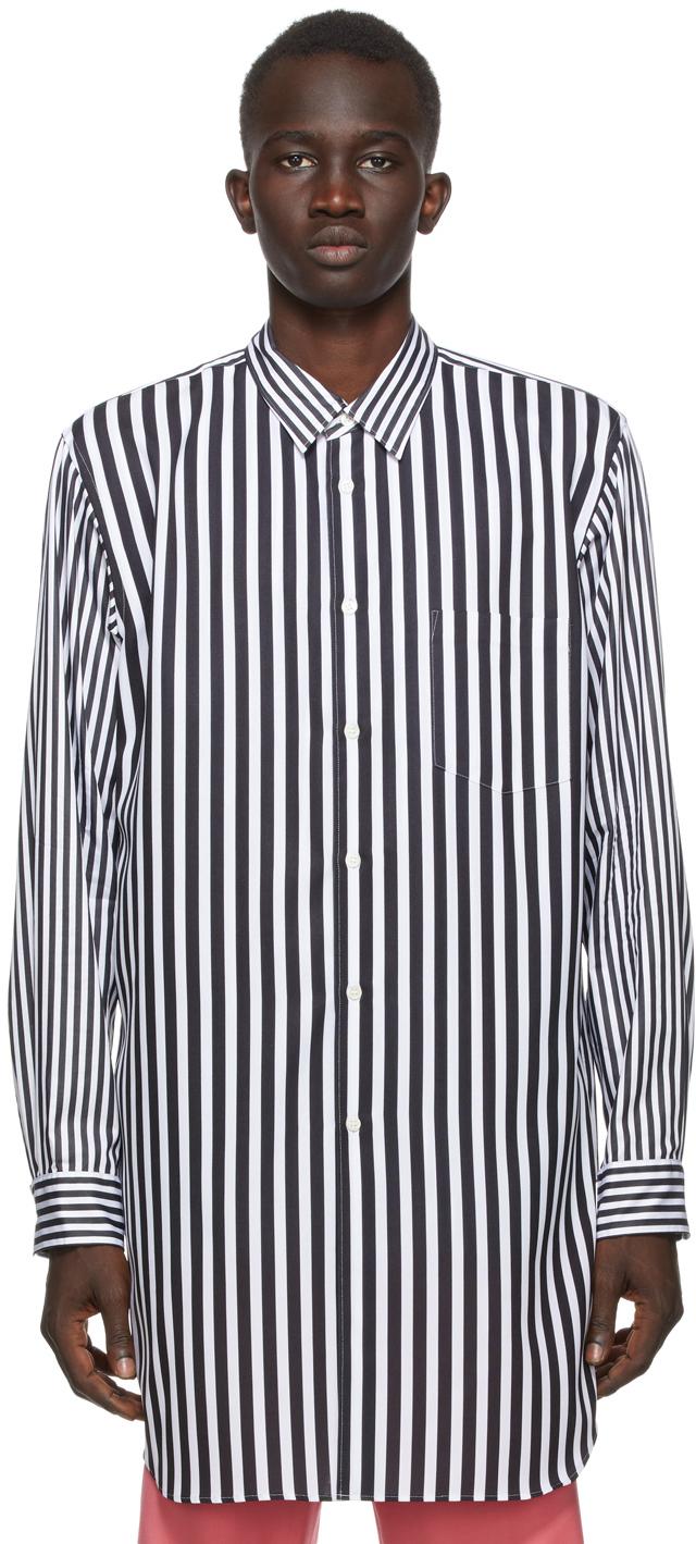 Black & White Broadcloth Stripe Shirt