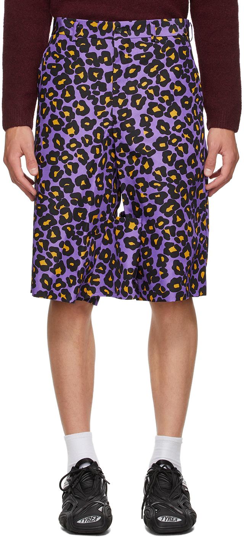 Purple Animal Shorts