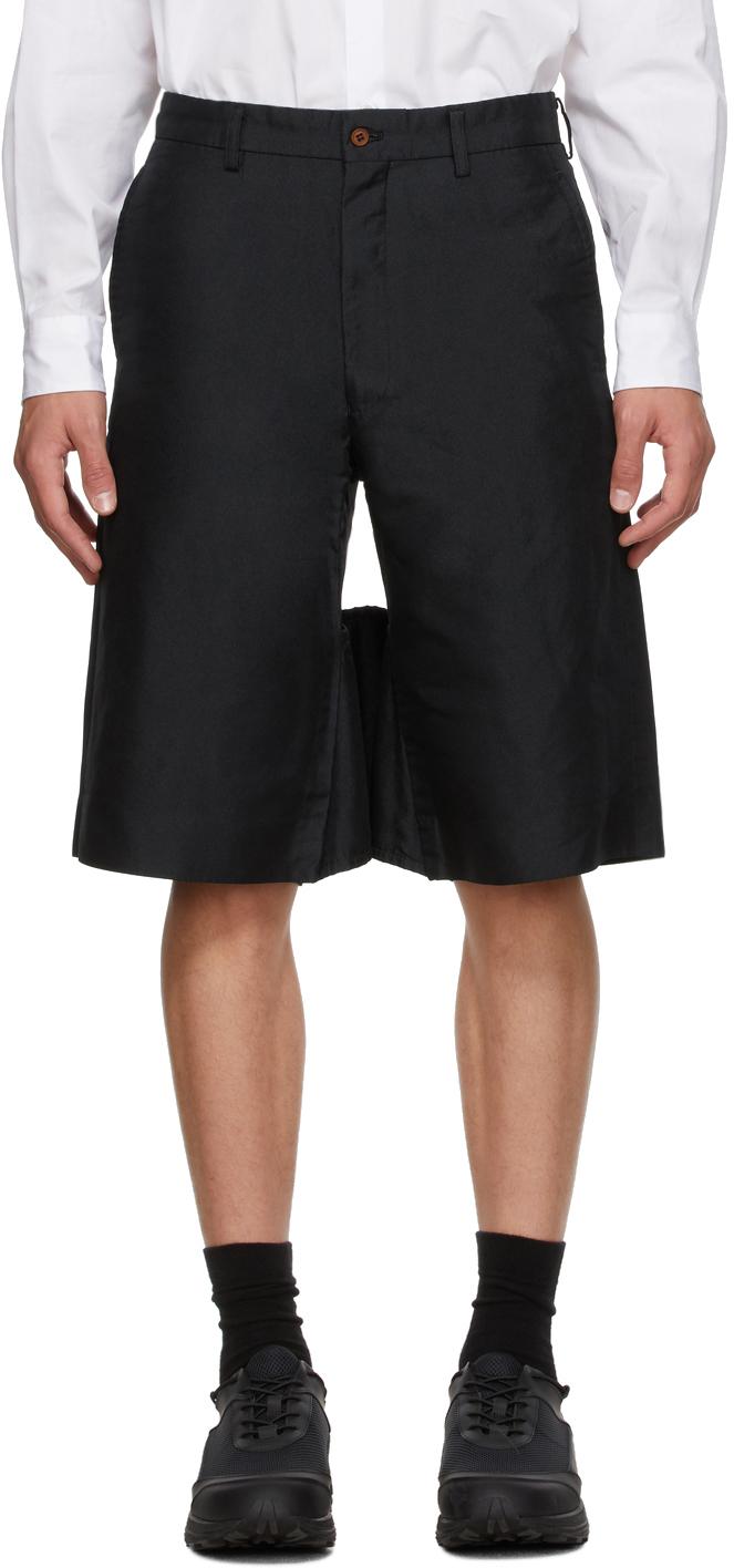 Black Twill Garment Treated Shorts