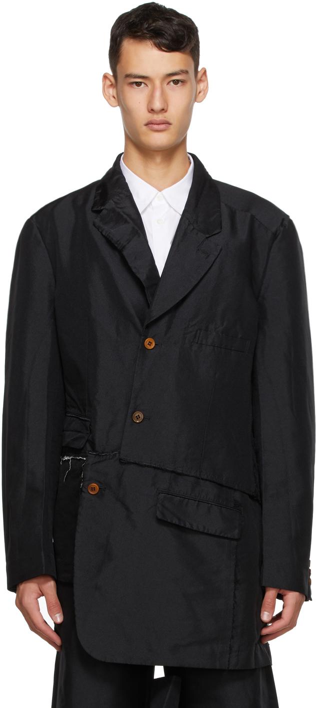 Black Double Twill Garment-Treated Blazer