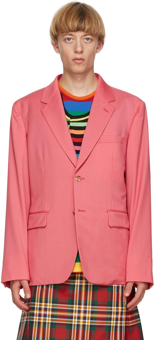 Pink Arm Slit Blazer