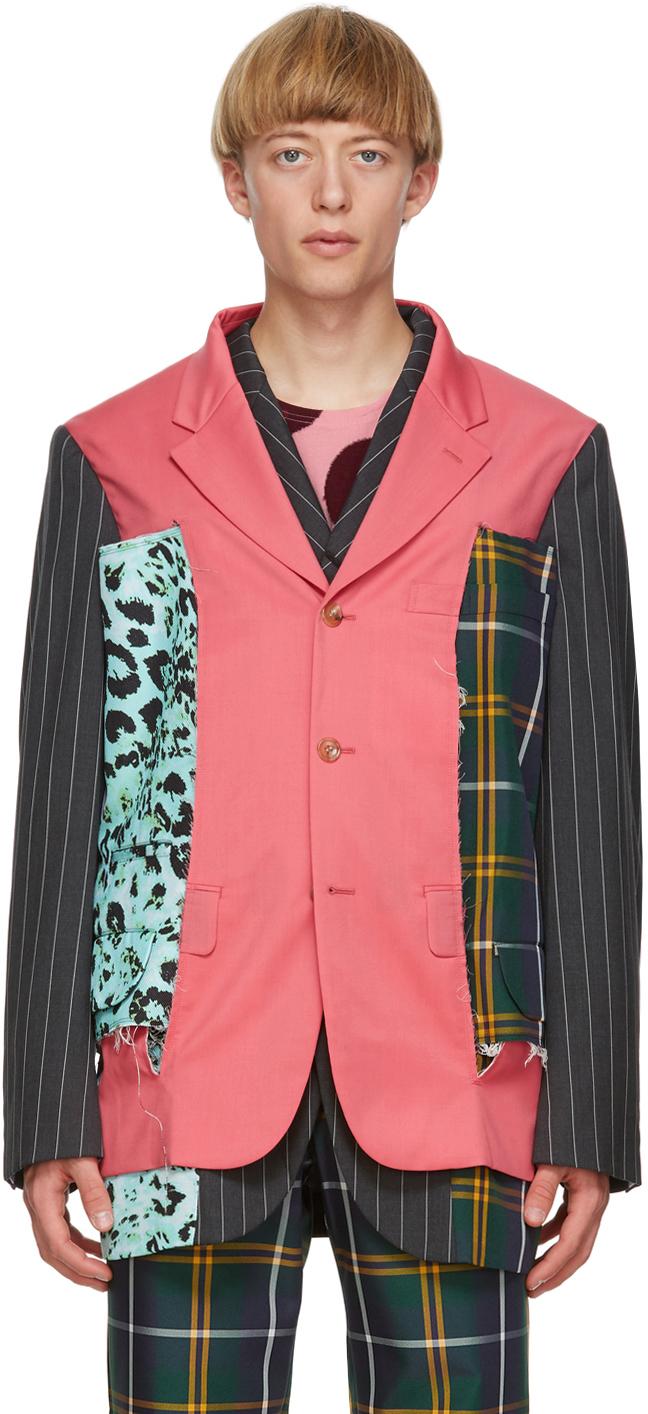 Multicolor Wool & Silk Blazer