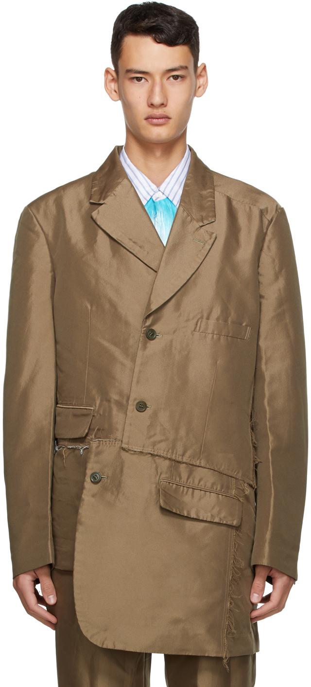 Khaki Double Twill Garment-Treated Blazer