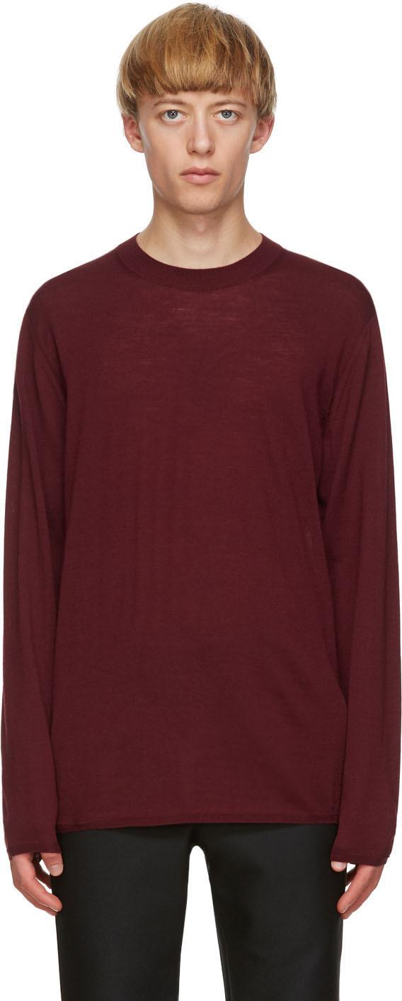 Burgundy Worsted Yarn Sweater