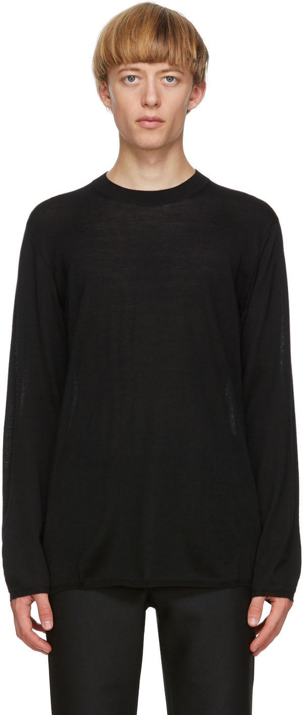 Black Worsted Yarn Sweater