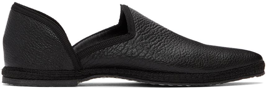 Black Friulane Loafers