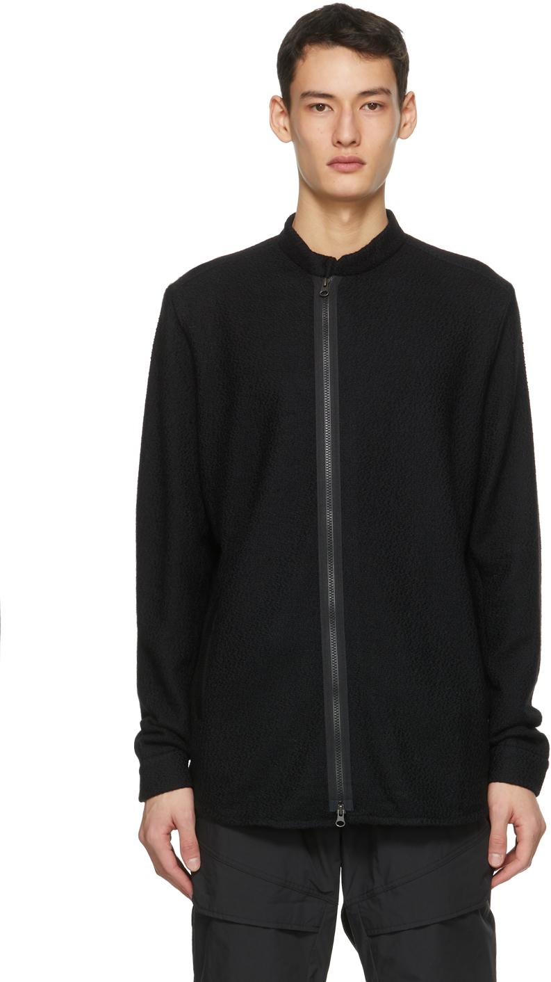 Black LA8-AK Zip-Up Sweater