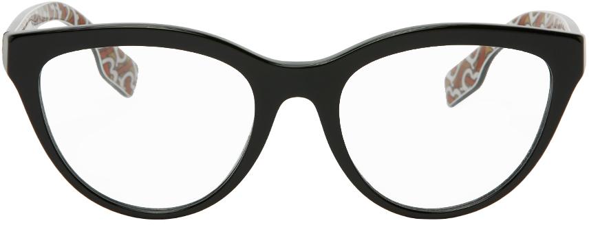 Burberry 黑色 Monogram 猫眼眼镜