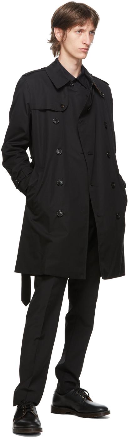 Burberry ブラック Kensington Heritage ミッドレングス トレンチ コート