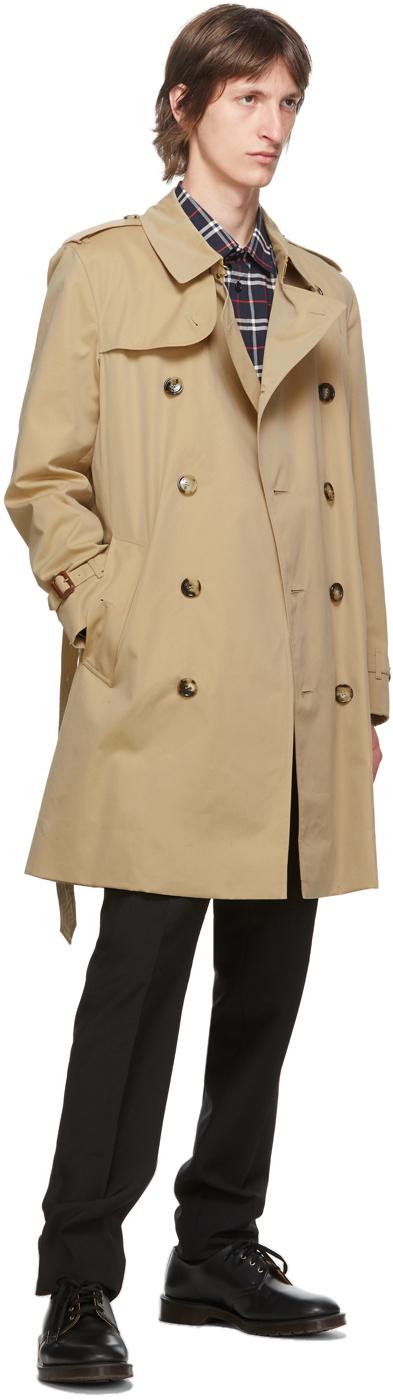Burberry ベージュ Kensington Heritage ミッドレングス トレンチ コート