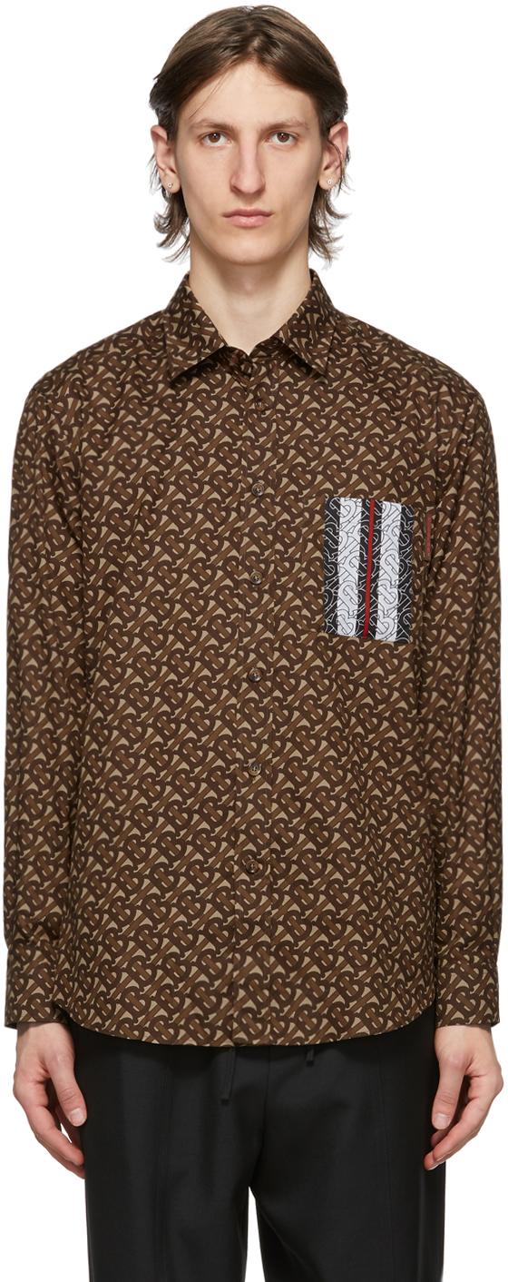 Burberry 棕色 Monogram 条纹衬衫