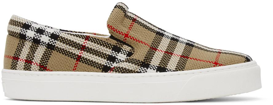 Beige Thompson Slip-On Sneakers