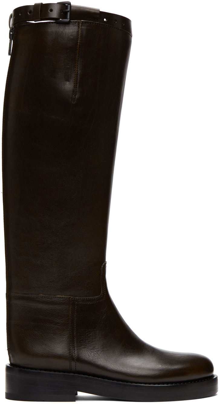SSENSE Exclusive Brown Riding Boots by