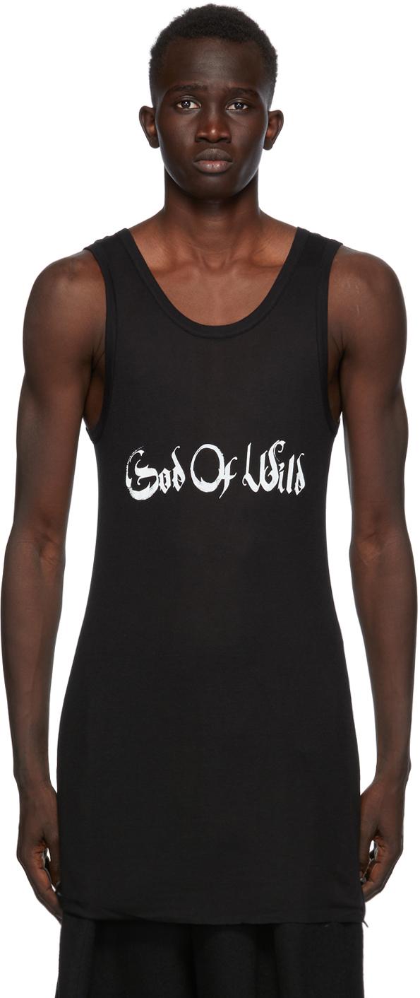 SSENSE Exclusive Black God of Wild Chic Tank Top