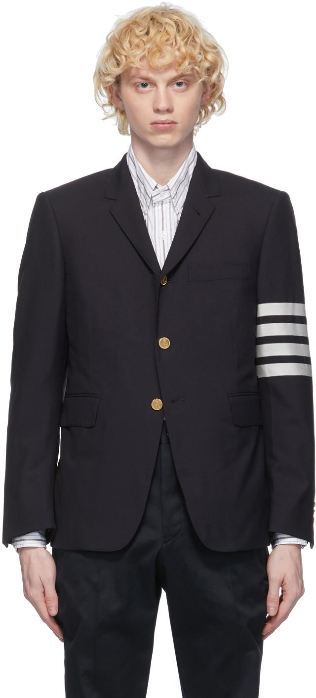 Thom Browne 海军蓝 4-Bar Classic 羊毛西装外套