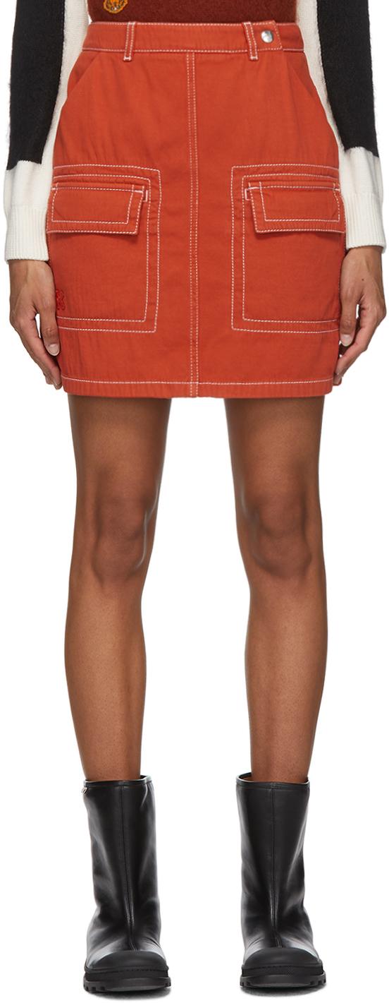Kenzo 橙色 Straight 短裙