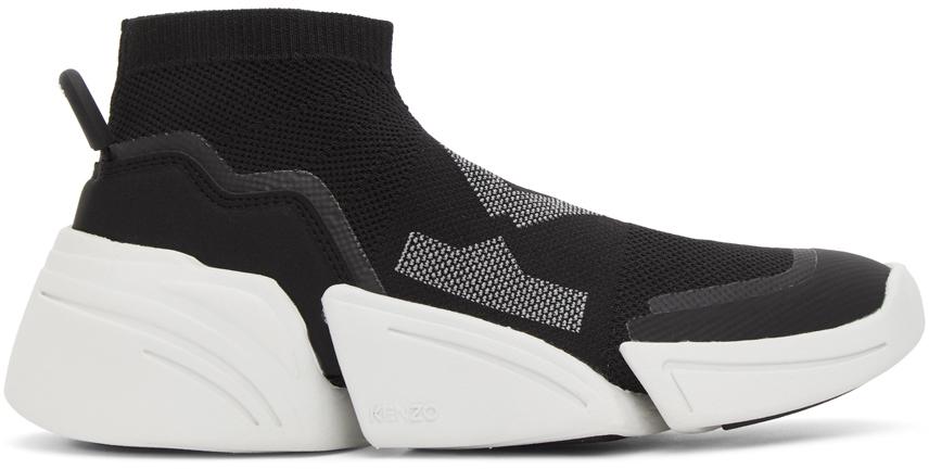 Black K-Sock Sneakers by Kenzo on Sale