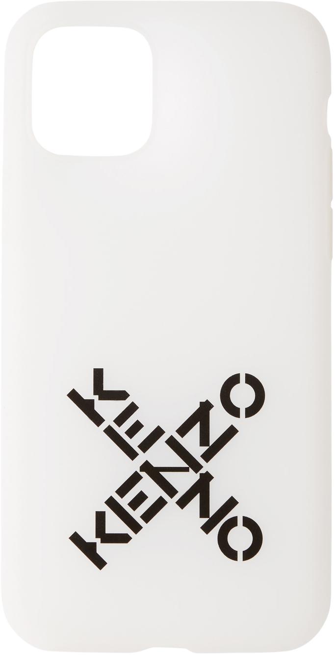 Étui pour iPhone 11 Pro blanc Sport Logo