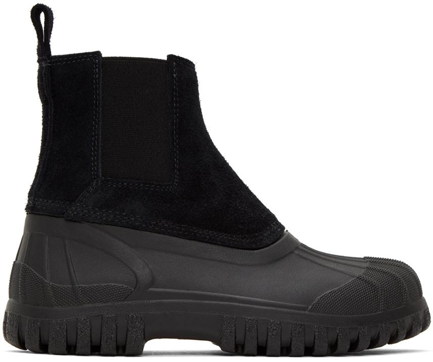 Diemme 黑色 Balbi 绒面革踝靴